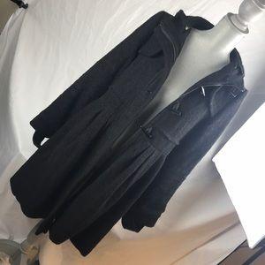 Black coat w/ detachable hoodie